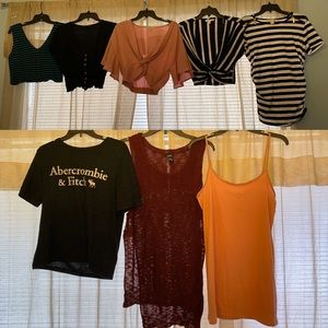 LOT of 8 medium women blouses preloved gently used